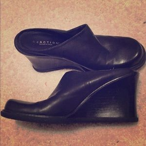 Kenneth Cole black wedges. Size 6