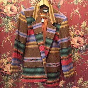 Vintage Western Patterned Blazer Jacket