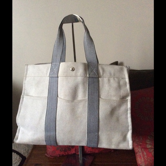b0a396d96f4a Hermes Handbags - Hermes canvas tote bag 1 hr sale🎈🎉