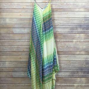 Charlie Jade Dresses & Skirts - 🆕 Charlie Jade 100% Silk Green Handkerchief Dress
