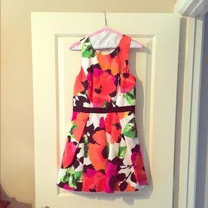 Eliza J Keyhole Back Floral Dress