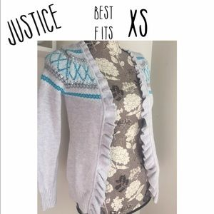 Justice Other - Justice open fair isle cardigan girls size 14