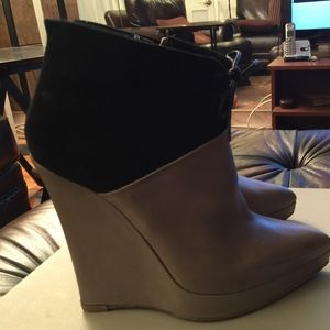 Reed Krakoff Shoes - Reed Krakoff grey leather black suede ankle bootie