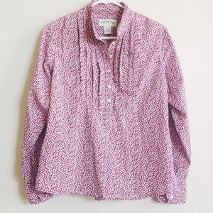 Orvis Tops - Orvis Pink Floral Long Sleeve Blouse