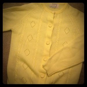 Vintage Yellow Cardigan