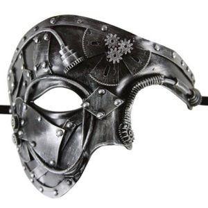 sports shoes b9b55 a5ad6 Accessories - Rusty Silver Steam Punk Masquerade Mask with Gears