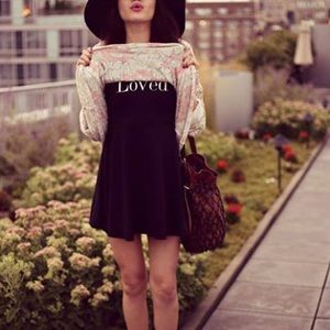 Wildfox Dresses & Skirts - Wildfox Loved Joan Black Skater Dress