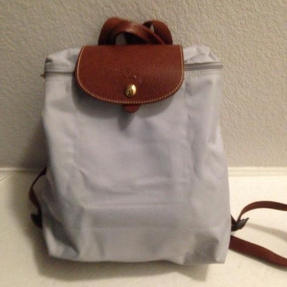 1baca73b288 Longchamp Handbags - Longchamp le pliage grey backpack
