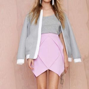 Nasty Gal Dresses & Skirts - Lavender Origami Jagged Frill Skirt Nasty Gal