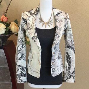 Just Cavalli Jackets & Blazers - Just Cavalli stunning reptile print blazer