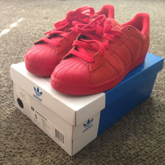 Adidas Superstar Lite Gs Shoes Red Handsome Price