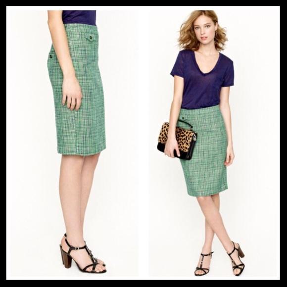 Skirts Women's Clothing Confident Nwot J Crew Sunshine Peony Pencil Skirt Size 2