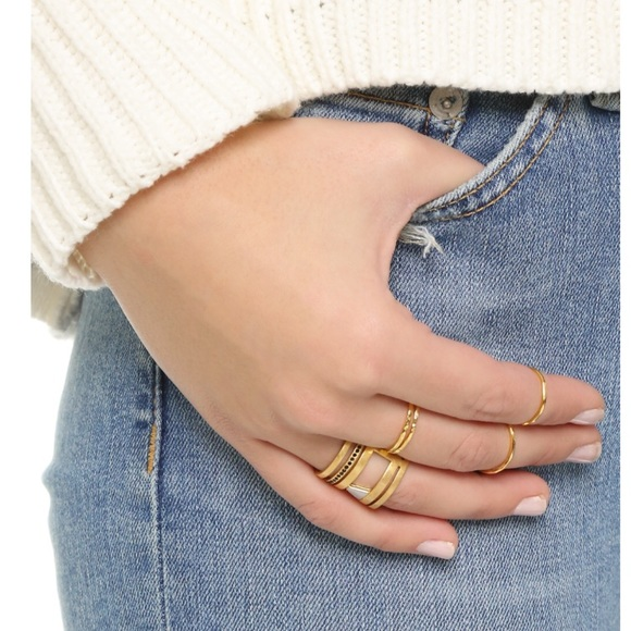 Madewell Jewelry Gold Pave Cage Ring Poshmark