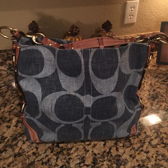 Coach Handbags - Coach Carly denim purse b4dca231e484e