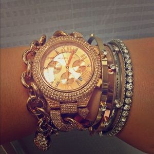 Rose gold Camille glitz watch