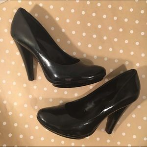 Patent Leather Platform Heels