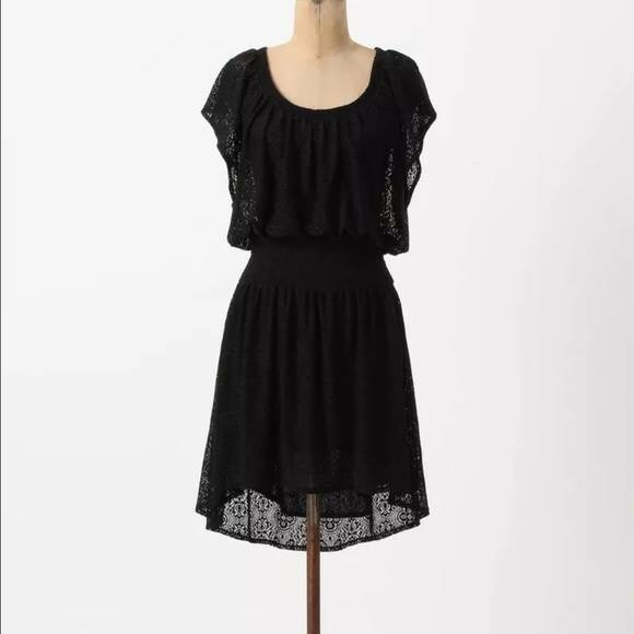 39a033cf3fc30 Anthropologie Dresses   Leifnotes Smocked Lace Dress   Poshmark