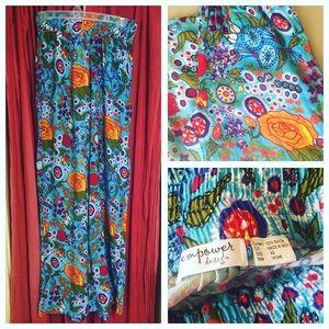 Pants - Wide Leg Hippie Boho Pants NWOT flower power