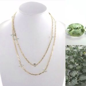 Colette Malouf Jewelry - 🚨PriceFirm Colette Malouf Green Amethyst Necklace