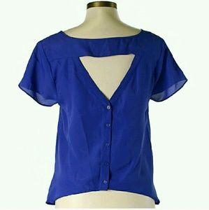royal blue blouse forever 21 on Poshmark