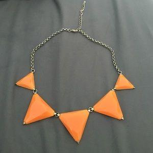 $10 SALE Orange Triangle Statement Choker Necklace
