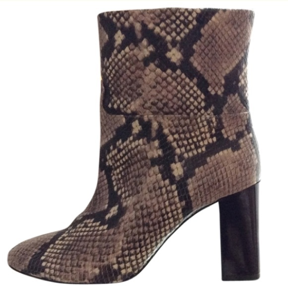 9d5089df8037b Tory Burch Devon snakeskin boots. M 5718e769620ff74f7300296a