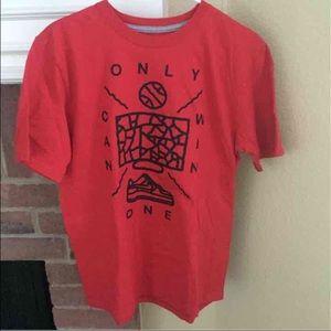 NIKE Red Medium Regular Fit Short Sleeve Shirt