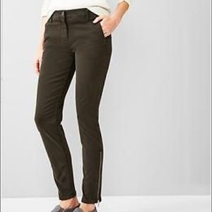 GAP Pants - New Gap Skinny Dark Olive Zip Ankle Pants 12