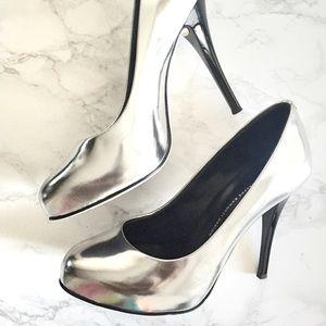 Giuseppe Zanotti Shoes - Giuseppe Zanotti Viv 100 Pumps sz 37 Silver Black
