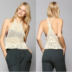 Urban Outfitters Tops - Urban Outfitters Ivory Crochet Top