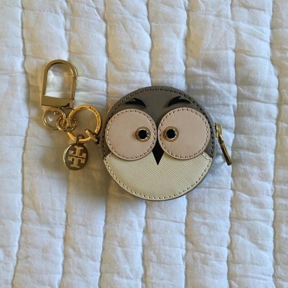 6c36f72437a Tory Burch Accessories - Tory Burch Owl Circle Key Fob - French Gray