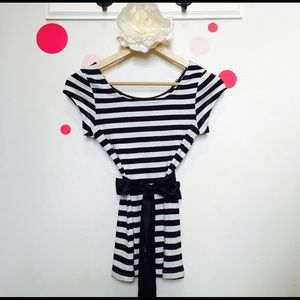Tops - Black and White striped T!!