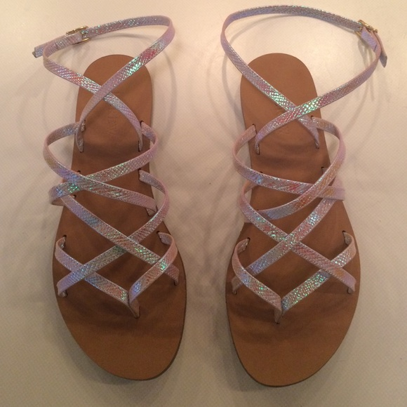 5cf63c852aea J. Crew Shoes - J Crew Clara Iridescent Sandals Size 7