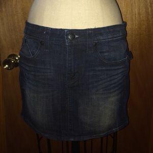  Rock & Republic Denim Mini Skirt Sz 6