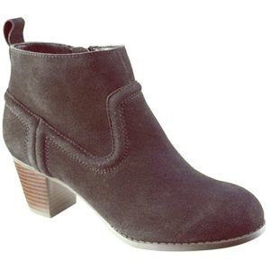 Mossimo Supply Co. Shoes - Mossimo Real Suede Stacked Heel Booties sz 8.5