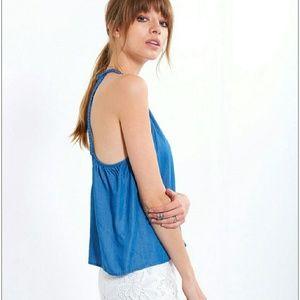 6f42fd12dbb81a Zara Tops - Braided denim halter top