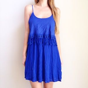 | new | blue tiered dress