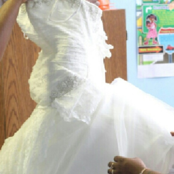 22 off david 39 s bridal dresses skirts wedding dress for Pre worn wedding dresses