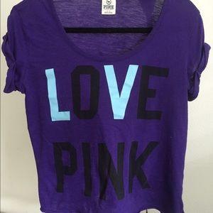 Love pink purple loose fit shirt Victoria secret