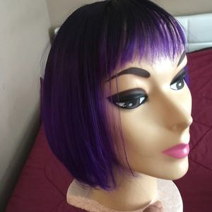 Eve Accessories - Purple and black Wig
