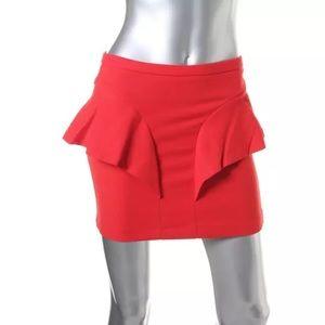 Zara Dresses & Skirts - NWT💠Zara Red Peplum Above Knee A-Line Skirt