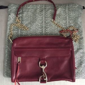 Rebecca Minkoff red Mac crossbody