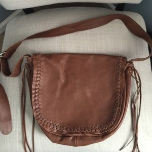 Linea Pelle boho leather crossbody bag