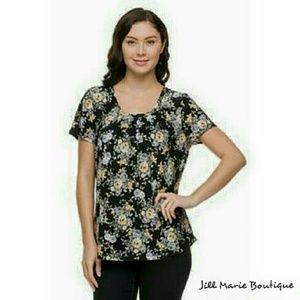 Women's short sleeve blouse 2X