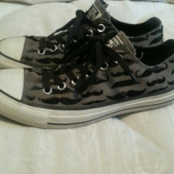 a39a3abd2373 Converse Shoes - Mustache printed converse