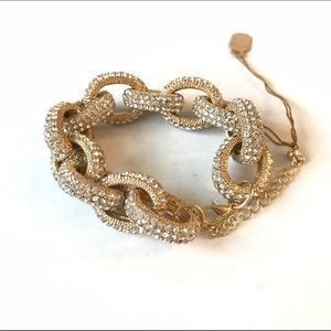 Jewelry - PRICE FIRM Gold Pave Chain Link Bracelet