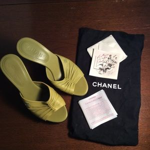 Chanel platform leather Mule 36.5euro size