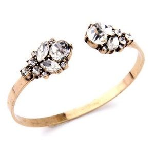 Jewelry - Crystal Cuff Bracelet in Gold