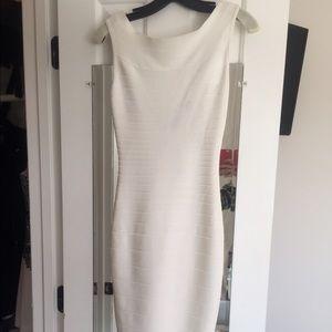New Herve Leger white dress