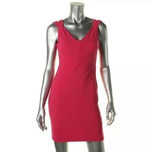 Guess by Marciano Dresses & Skirts - NWT💠Guess Pink Ribbed V-Neck Mini Dress